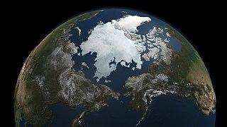 Satellitenfoto der Arktis vom 3. Sept. 2010