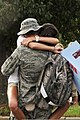 A U.S. Airman from the 169th Fighter Wing gives a hug after returning from Iraq Aug. 29, 2010, at McEntire Joint National Guard Base, S.C 100829-F-XH297-010.jpg