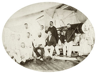 Teuruarii IV - Governor Lacascade aboard the Dives, 30 March 1889
