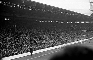 Anfield - The Kop in 1983, before the Taylor Report recommended standing areas in football grounds be outlawed following the Hillsborough disaster in 1989.