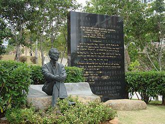 Chen Jingrun - Chen's statue at Xiamen University, China.