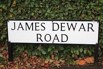 James Dewar - A street sign in the Kings Buildings complex in Edinburgh in memory of James Dewar