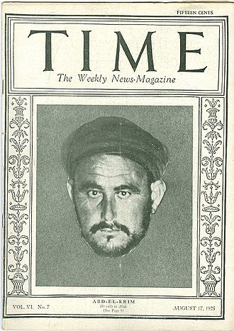 Abd el-Krim - Abd el-Krim featured in the magazine Time in 1925.