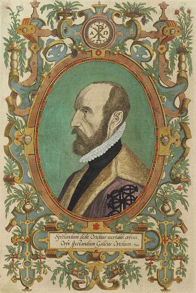File:Abraham Orteilus, Title page of Theatre de L'Univers contenant les cartes de tout le monde, by Christopher Plantin.jpg