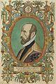 Abraham Orteilus, Title page of Theatre de L'Univers contenant les cartes de tout le monde, by Christopher Plantin.jpg