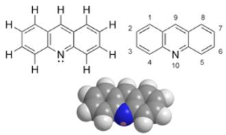 Acridine - Image: Acridine chemical structure