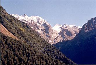 Adamello-Presanella Alps - Adamello-Presanella Alps seen from the Tonale Pass road.