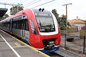 Adelaide Metro - 4000 class train set at Goodwood railway station