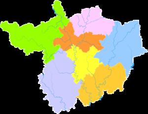 Guangyuan - Image: Administrative Division Guangyuan