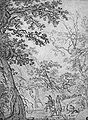 Adriaen van der Kabel - Convoi de chevaux et de mulets au bord d'un ruisseau, dans une gorge boisé.jpg