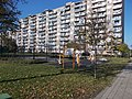 Ady Endre Street Housing Estate, streetball court and outdoor fitness park, 2020 Csepel.jpg