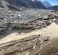 Aerial view of Gorakshep settlement and Khumbu glacier moraine, Nepal.jpg