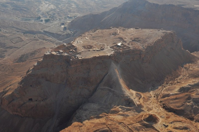 Aerial view of Masada - israeltourism