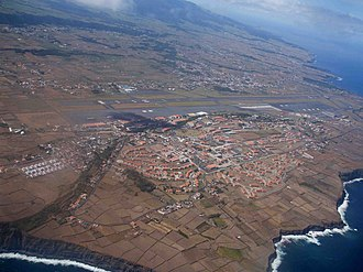 Lajes Field - Lajes Field, as seen from the southeast coast of the island of Terceira