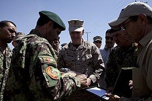 Joseph Dunford - Dunford at Camp Shorabak, Afghanistan (2013)