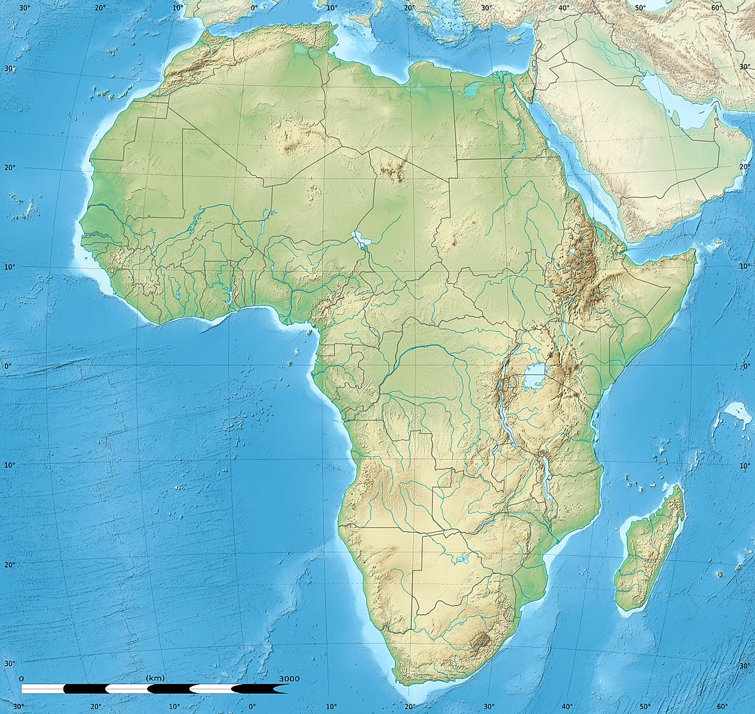 Picture of: File Africa Relief Location Map Jpg Wikimedia Commons