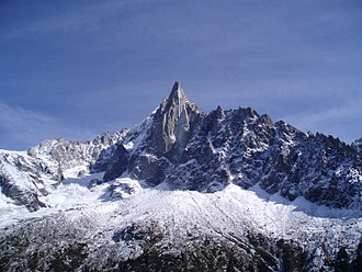 Mountain - Aiguille du Dru in the French Alps