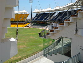 Air-conditioned stand (2nd tier) at M. A. Chidambaram Stadium.jpg