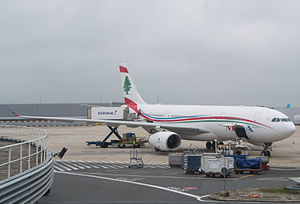 Servair - Servair catering an A330 of Middle East Airlines at Paris Charles de Gaulle Airport