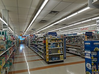 Rite Aid - Displays in a Rite Aid store in Rose Hill, Fairfax County, Virginia in September 2018. This location is soon to be converted into a Walgreens.