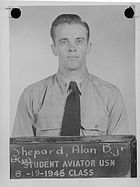 Alan Shepard as a student aviator