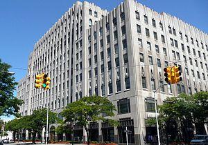 Julius Kahn (inventor) - The Albert Kahn Building in Detroit, where Julius worked in fabrication designs