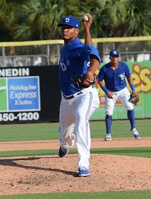 Philadelphia Phillies minor league players - Tirado with the Dunedin Blue Jays