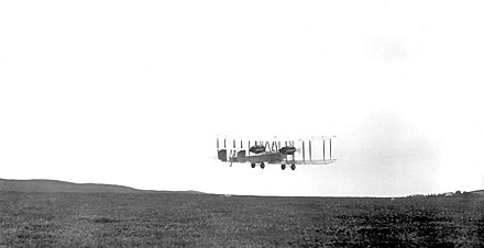 Alcock and Brown made the first non-stop transatlantic flight in June 1919. They took off from St. John's, Newfoundland. Alcockandbrown takeoff1919.jpg