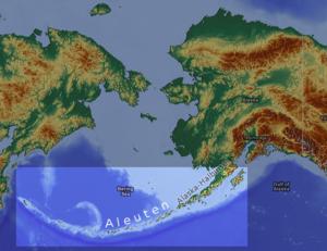 Karte von Alëuten
