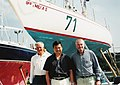 Alex Whitworth, Leroy Chiao and Peter Crozier in front of Berrimilla, Falmouth, June 18, 2005.jpg