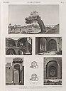 Alexandrie (Alexandria). 1-4. Vues d'une mosquée ruinée et de plusieurs tours de l'enceinte des arabes; 5. Vue de l'arbre des pélerins et de l'aquéduc; 6.7. Plans d'une maison particulière (NYPL b14212718-1268803).jpg