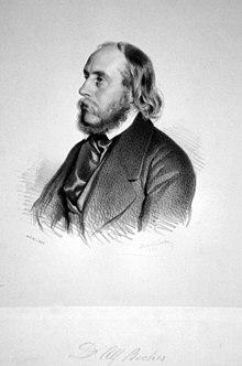 Alfred Julius Becher, Lithographie von Gabriel Decker, 1844. (Quelle: Wikimedia)