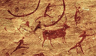 Hunting - Saharan rock art with prehistoric archers