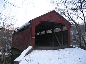 Aline Covered Bridge - The bridge in 2013