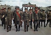 Allies at the Brandenburg Gate, 1945.jpg