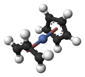 Cyclopentadienyl allyl palladium - Image: Allyl(cyclopentadien yl)nickel(II) 3D balls