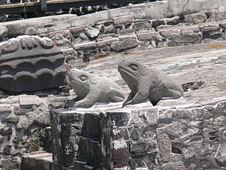 Templo Mayor - Altar of the toads as symbols of water