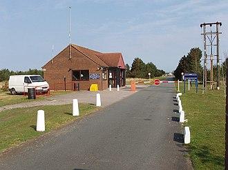 A565 road - Image: Altcar Training Camp entrance geograph.org.uk 418485