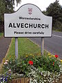 Alvechurch sign, B4120, Redditch Road.JPG