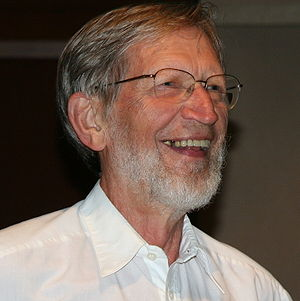 Alvin Plantinga after telling a joke at the be...