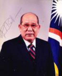 Amata Kabua former President of the Marshall Islands