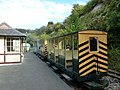 Amberley Working Museum- passenger carriages at Cragside Station (geograph 2119817).jpg