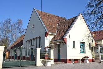 Ambricourt - The town hall and school of Ambricourt