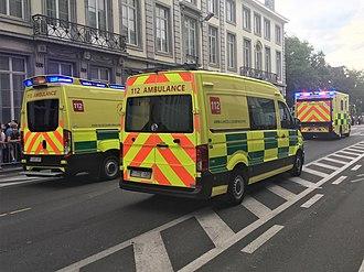 Healthcare in Belgium - New emergency ambulances with Battenburg markings (2018)