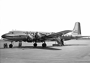 American Airlines Flight 157 - An American Airlines Douglas DC-6, similar to the aircraft involved in the crash.