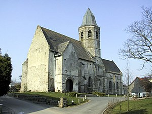 Ames, Pas-de-Calais - The church of Ames