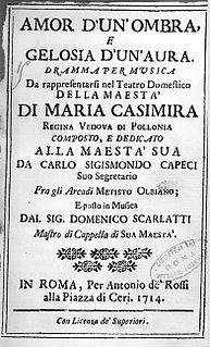 <i>Amor dunombra e gelosia dunaura</i> opera