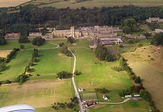 Ampleforth College - Ampleforth and the Valley from the air.