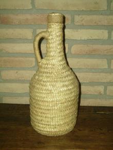 Botella forrada con trenzas de palma 5ad43dc1009