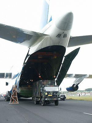 Gilze-Rijen Air Base - Antonov An-124 being loaded at Gilze-Rijen in 2005